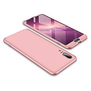 Θήκη GKK Full body Protection 360° από σκληρό πλαστικό για Huawei Honor P20 ροζ χρυσό