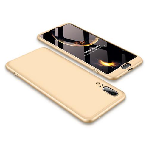 Θήκη GKK Full body Protection 360° από σκληρό πλαστικό για Huawei Honor P20 χρυσό