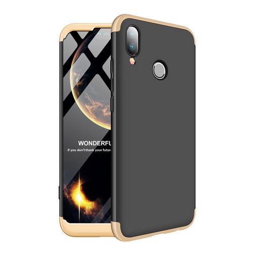 Θήκη GKK Full body Protection 360° από σκληρό πλαστικό για Huawei Honor P20 Lite μαύρο / χρυσό