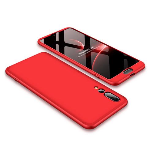 Θήκη GKK Full body Protection 360° από σκληρό πλαστικό για Huawei Honor P20 Pro κόκκινο