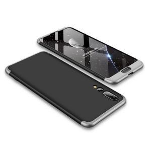 Θήκη GKK Full body Protection 360° από σκληρό πλαστικό για Huawei Honor P20 Pro μαύρο / ασημί
