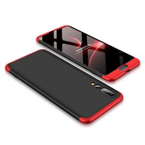 Θήκη GKK Full body Protection 360° από σκληρό πλαστικό για Huawei Honor P20 Pro μαύρο / κόκκινο