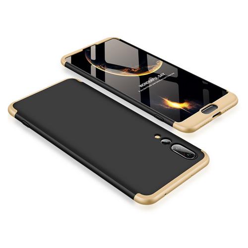 Θήκη GKK Full body Protection 360° από σκληρό πλαστικό για Huawei Honor P20 Pro μαύρο / χρυσό