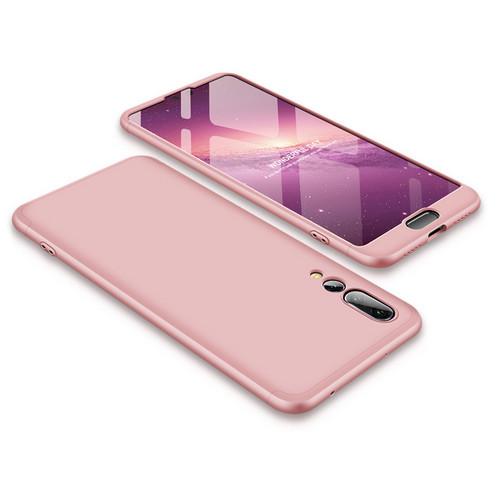 Θήκη GKK Full body Protection 360° από σκληρό πλαστικό για Huawei Honor P20 Pro ροζ χρυσό