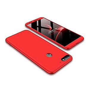 Θήκη GKK Full body Protection 360° από σκληρό πλαστικό για Huawei Honor 7C / Y7 Prime (2018) κόκκινο