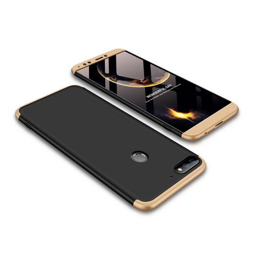 Θήκη GKK Full body Protection 360° από σκληρό πλαστικό για Huawei Honor 7C / Y7 Prime (2018) μαύρο / χρυσό