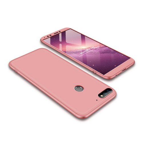 Θήκη GKK Full body Protection 360° από σκληρό πλαστικό για Huawei Honor 7C / Y7 Prime (2018) ροζ χρυσό