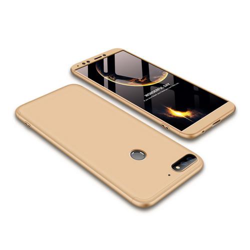 Θήκη GKK Full body Protection 360° από σκληρό πλαστικό για Huawei Honor 7C / Y7 Prime (2018) χρυσό