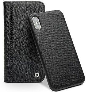 Θήκη iPhone XS OEM Αποσπώμενη 2 σε 1 με λειτουργία Wake / Sleep Cowhide Leather flip wallet δερμάτινη μαύρο