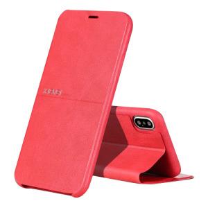 Θήκη iPhone XS Max X-LEVEL Extreme Series Leather με βάση στήριξης flip wallet δερματίνη κόκκινο