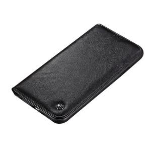 Θήκη iPhone XS Max GEBEI Crazy Horse Texture με βάση στήριξης και υποδοχές καρτών flip wallet δερμάτινη μαύρο