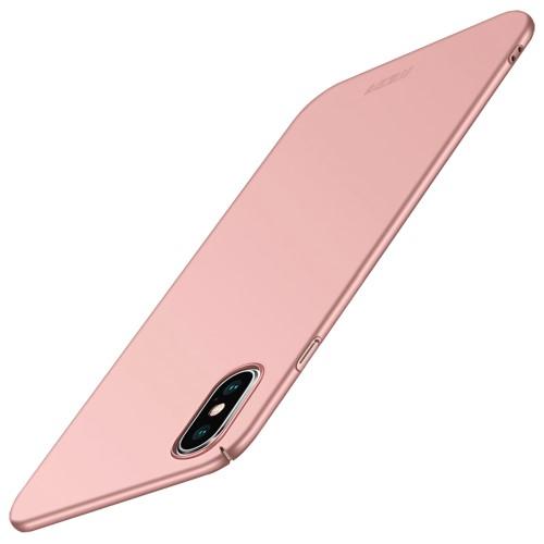 Θήκη iPhone XS Max MOFI Shield Slim Series πλάτη από σκληρό πλαστικό ροζ