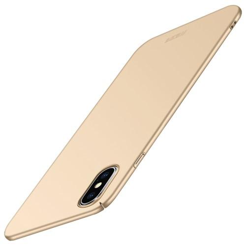 Θήκη iPhone XS Max MOFI Shield Slim Series πλάτη από σκληρό πλαστικό χρυσό