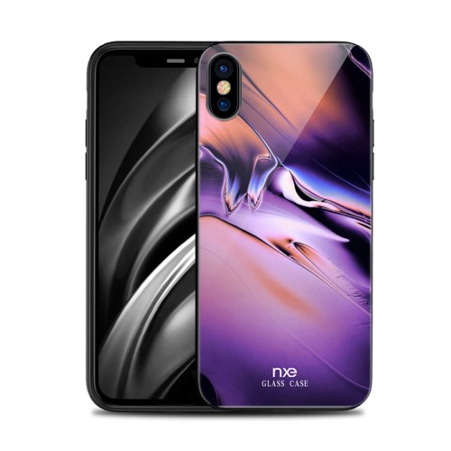 Θήκη iPhone XS Max NXE Tempered Glass Streamer Series - Style B πλάτη TPU
