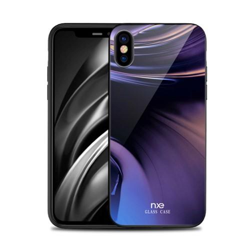 Θήκη iPhone XS Max NXE Tempered Glass Streamer Series – Style D πλάτη TPU