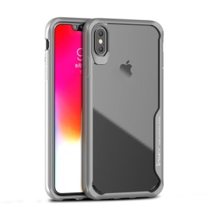 Θήκη iPhone XS Max IPAKY Shockproof Absorption Hybrid Series πλάτη TPU γκρι