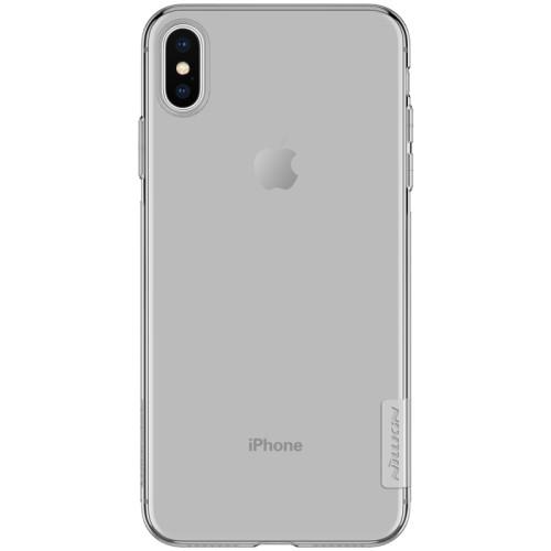Θήκη iPhone XS Max NiLLkin Nature Series 0.6mm πλάτη TPU γκρι / διάφανη