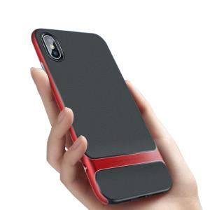 Θήκη iPhone XS Max ROCK Royce Series πλάτη TPU κόκκινο