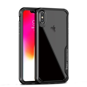 Θήκη iPhone XS Max IPAKY Shockproof Absorption Hybrid Series πλάτη TPU μαύρο