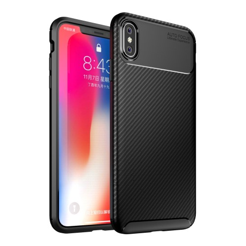 Θήκη iPhone XS Max OEM Beetle Series Carbon Fiber πλάτη TPU μαύρο