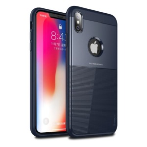 Θήκη iPhone XS Max IPAKY Grid Hybrid Series πλάτη TPU μπλε
