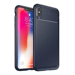 Θήκη iPhone XS Max OEM Beetle Series Carbon Fiber πλάτη TPU μπλε