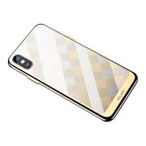 Θήκη iPhone XS Max Sulada Electroplating Soft Series πλάτη TPU χρυσό