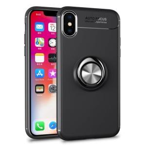 Θήκη iPhone XS OEM Magnetic Ring Kickstand πλάτη TPU γκρι