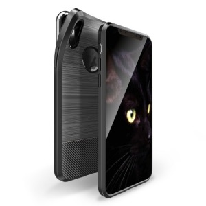 Θήκη iPhone XS DUX DUCIS Mojo Series Brushed TPU Carbon Magnetic πλάτη TPU μαύρο