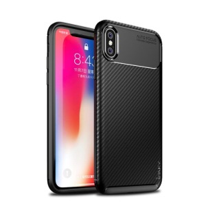 Θήκη iPhone XS IPAKY Airbag Carbon Series πλάτη TPU μαύρο