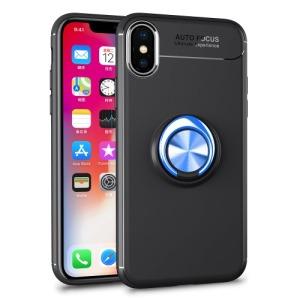 Θήκη iPhone XS OEM Magnetic Ring Kickstand πλάτη TPU μπλε