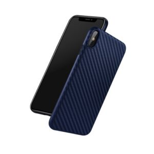 Θήκη iPhone XS HOCO Shadon Series Carbon Fiber πλάτη TPU μπλε