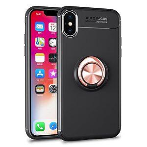 Θήκη iPhone XS OEM Magnetic Ring Kickstand πλάτη TPU ροζ