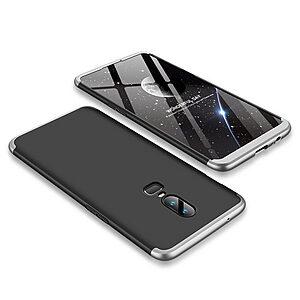 Θήκη GKK Full body Protection 360° από σκληρό πλαστικό για OnePlus 6 μαύρο / ασημί