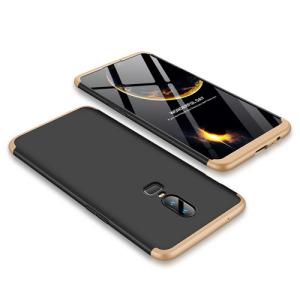 Θήκη GKK Full body Protection 360° από σκληρό πλαστικό για OnePlus 6 μαύρο / χρυσό
