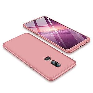 Θήκη GKK Full body Protection 360° από σκληρό πλαστικό για OnePlus 6 ροζ χρυσό