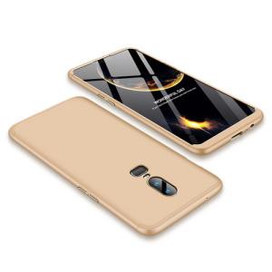 Θήκη GKK Full body Protection 360° από σκληρό πλαστικό για OnePlus 6 χρυσό