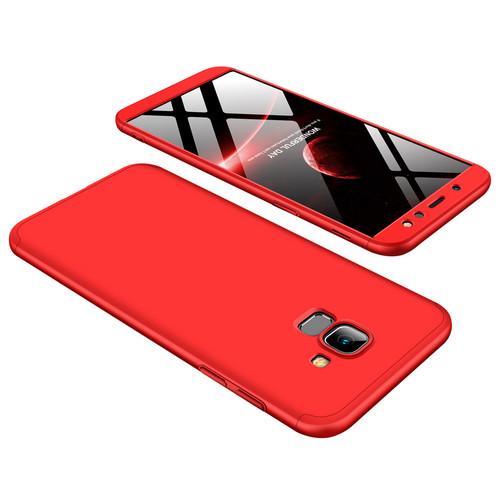 Θήκη GKK Full body Protection 360° από σκληρό πλαστικό για Samsung Galaxy A6 (2018) κόκκινο