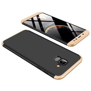 Θήκη GKK Full body Protection 360° από σκληρό πλαστικό για Samsung Galaxy A6 (2018) μαύρο / χρυσό