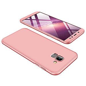 Θήκη GKK Full body Protection 360° από σκληρό πλαστικό για Samsung Galaxy A6 (2018) ροζ χρυσό