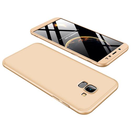 Θήκη GKK Full body Protection 360° από σκληρό πλαστικό για Samsung Galaxy A6 (2018) χρυσό