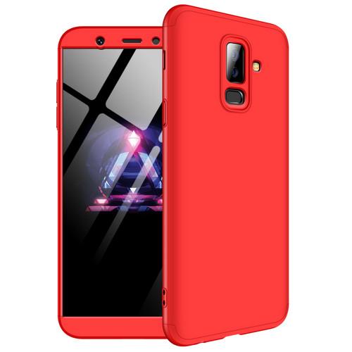 Θήκη GKK Full body Protection 360° από σκληρό πλαστικό για Samsung Galaxy A6 Plus (2018) κόκκινο