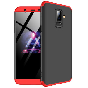 Θήκη GKK Full body Protection 360° από σκληρό πλαστικό για Samsung Galaxy A6 Plus (2018) μαύρο / κόκκινο