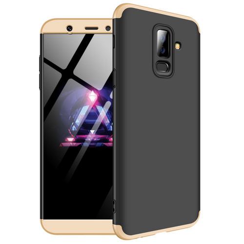 Θήκη GKK Full body Protection 360° από σκληρό πλαστικό για Samsung Galaxy A6 Plus (2018) μαύρο / χρυσό