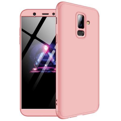 Θήκη GKK Full body Protection 360° από σκληρό πλαστικό για Samsung Galaxy A6 Plus (2018) ροζ χρυσό