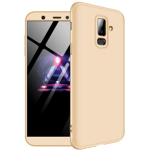 Θήκη GKK Full body Protection 360° από σκληρό πλαστικό για Samsung Galaxy A6 Plus (2018) χρυσό