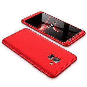 Θήκη GKK Full body Protection 360° από σκληρό πλαστικό για Samsung Galaxy A8 (2018) κόκκινο