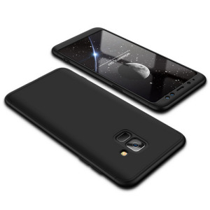 Θήκη GKK Full body Protection 360° από σκληρό πλαστικό για Samsung Galaxy A8 (2018) μαύρο