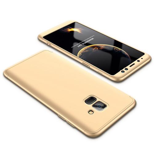 Θήκη GKK Full body Protection 360° από σκληρό πλαστικό για Samsung Galaxy A8 (2018) χρυσό