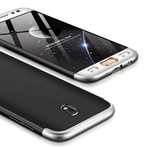 Θήκη GKK Full body Protection 360° από σκληρό πλαστικό για Samsung Galaxy J5 (2017) μαύρο / ασημί